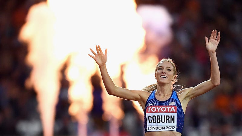 Emma Coburn claims gold, breaks own American record at World Championships
