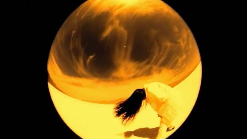 "Morissette in the ""You Oughta Know"" video"