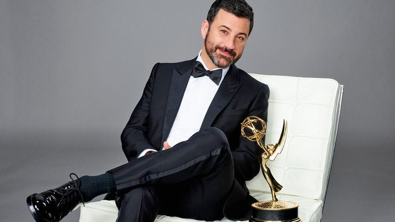 Host Jimmy Kimmel, saving your spot on the couch for The A.V. Club's Emmy chat (Photo: ABC)