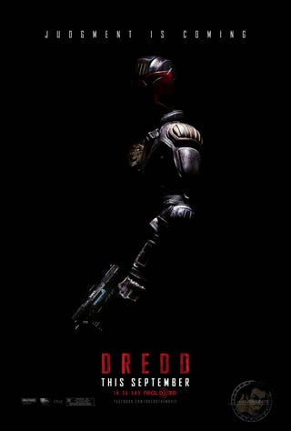 Illustration for article titled First Look at Official Dredd Poster