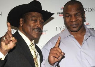Joe Frazier and Mike Tyson (Getty Images)