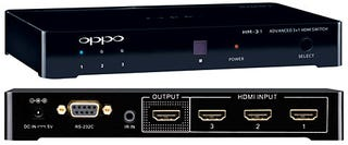 Illustration for article titled Oppo HM-31 Turns Three HDMI Signals Into One Without Clipping or Gypping