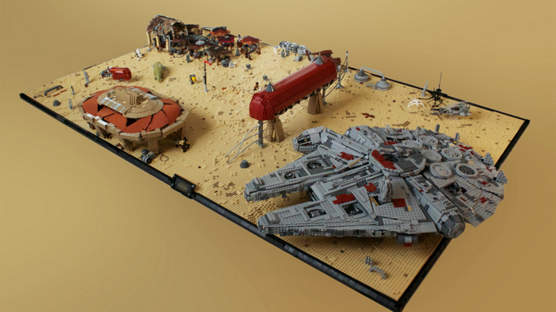 Illustration for article titled Star Wars: Episode VII's Niima Outpost, In LEGO Form