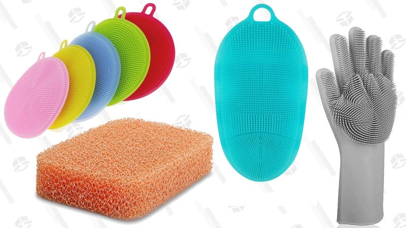 Illustration for article titled Replace Your Disgusting Kitchen Sponge With a Silicone Scrubber. Like, Right Now.