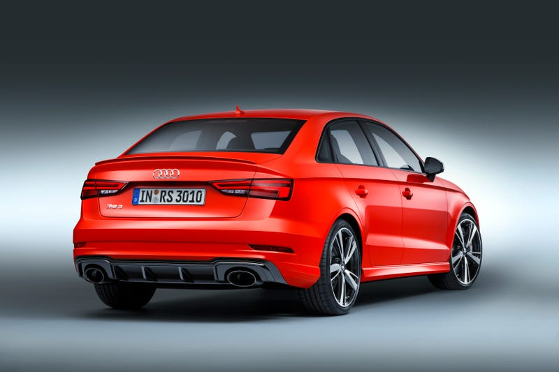 Illustration for article titled The Audi RS3 Sedan Is A 400 HP Five-Cylinder Monster Sedan Coming To America At Last