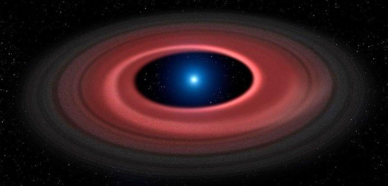 Illustration for article titled Este hermoso anillo es todo lo que queda cuando una enana blanca devora un asteroide