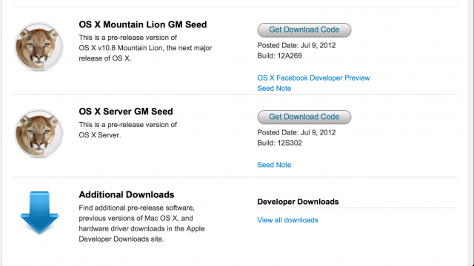 Apple OS X Mountain Lion Gold Master Is Out