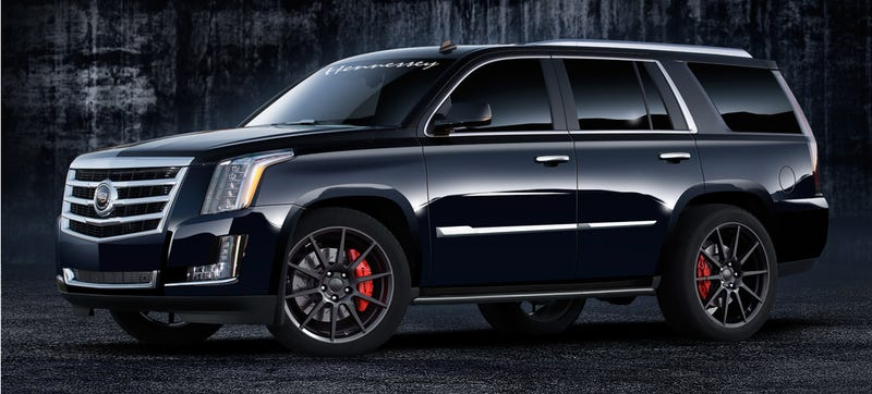 Illustration for article titled New Hennessey Cadillac Escalade Is An Ass-Hauling American Experience