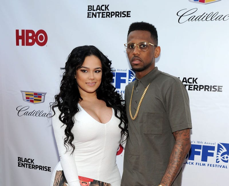 Emily B. and rapper Fabolous at the Think Like a Man Too premiere during the 2014 American Black Film Festival at SVA Theater on June 19, 2014, in New York City.