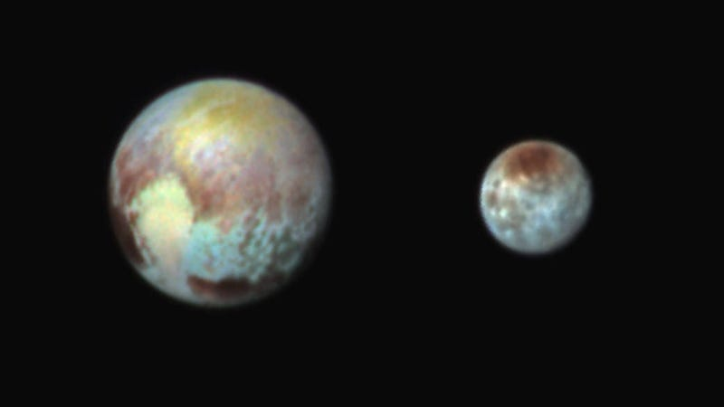 Illustration for article titled The Science so far on Pluto's Broken Heart in Latest Enhanced-Color Pics