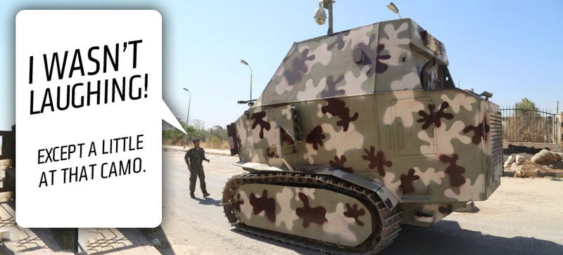 Illustration for article titled The Kurdish Homemade Tanks May Look Funny But They're No Joke