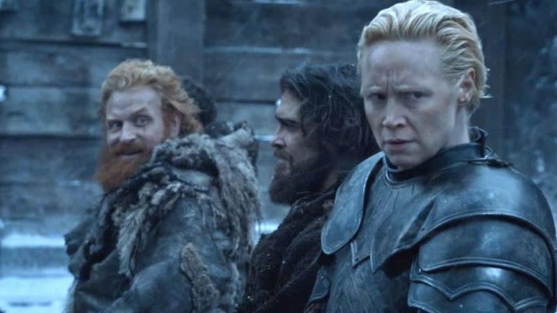 "Gwendoline Christie on a potential Brienne and Tormund romance: ""Yeah, maybe he has a chance"""