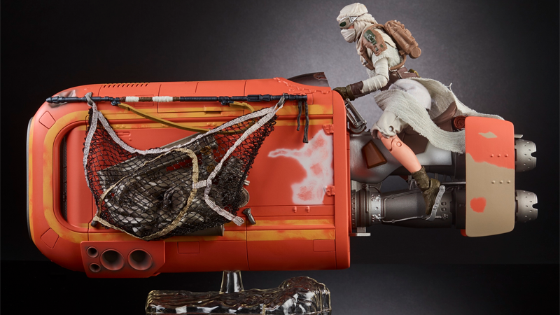 Illustration for article titled Rey's Force Awakens Speeder Is Getting the Gorgeous Toy It Deserves