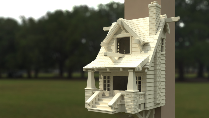 Illustration for article titled This 3D-Printed Bungalow Is the Ultimate Birdhouse
