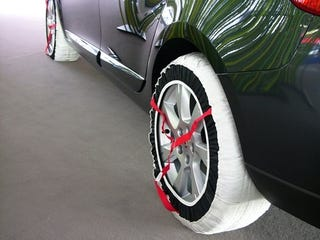 Illustration for article titled Only The French: The Tire Diapers Of The Frankfurt Auto Show