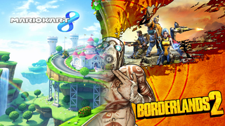 Illustration for article titled A Night In Gaming: Borderlands 2 (PC) / Mario Kart 8 (Wii U)