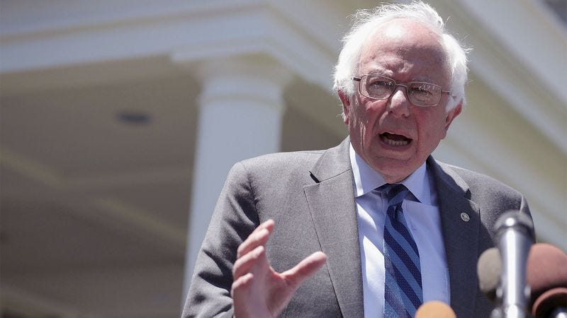 Illustration for article titled 'I'd Like You To Post Long, Aggressive Rants On Social Media,' Says Bernie Sanders In Supporter's Interpretation Of Speech