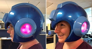 Illustration for article titled Capcom's Upcoming Wearable Mega Man Helmet Replica Is Flawless