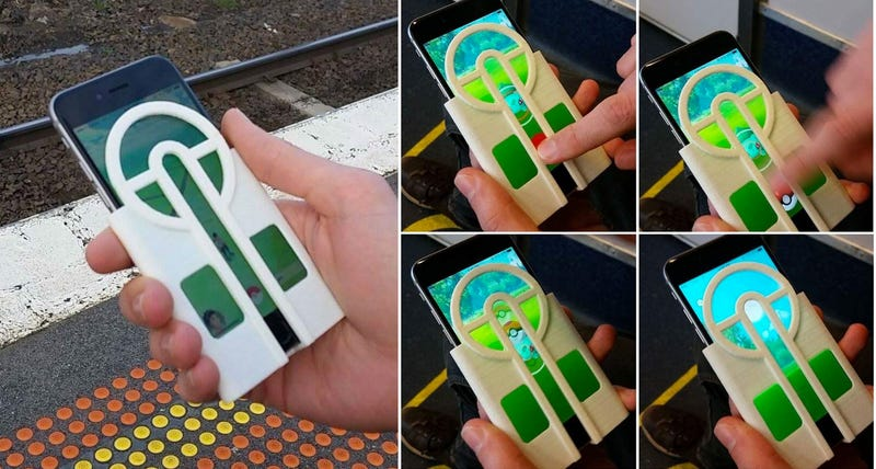 Illustration for article titled Brilliant iPhone Case Makes It Way Easier to Catch Pokémon