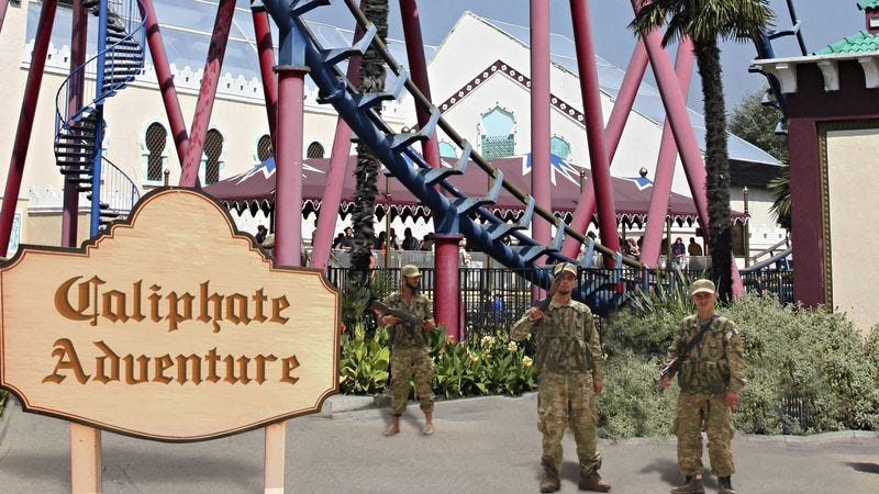 Illustration for article titled Turkish Forces Have Just Seized Control Of ISIS' Caliphate Adventure Theme Park