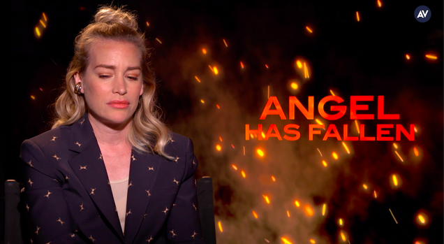 Piper Perabo says it's coincidence that Angel Has Fallen is about domestic terrorism