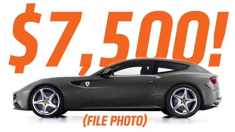 Illustration for article titled This Charcoal Gray Ferrari FF Can Be Yours For Only $7500 With Just One Little Catch