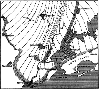 Illustration for article titled A Map of the Mile-Thick Ice Sheet That Made Modern Manhattan
