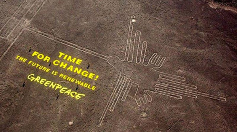 Illustration for article titled This Greenpeace Stunt May Have Irreparably Damaged Peru's Nazca Site