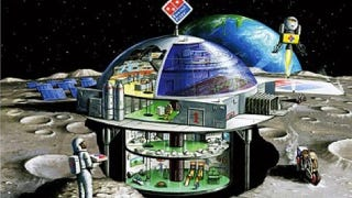 Illustration for article titled Dominos Dreams Of Selling Mediocre Pizza On The Moon