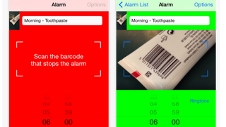 Illustration for article titled Barcode Alarm Clock Forces You to Get the Day Started