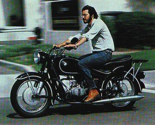 Illustration for article titled Decades Before The iPad, Steve Jobs Rode A BMW