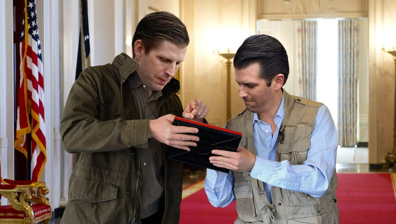 Illustration for article titled Trump Boys Defend Sending Saudi Arabia Plans For Cool Missile On Personal Etch A Sketch