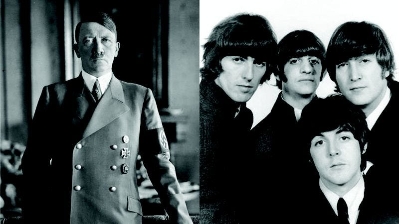 Illustration for article titled While I Agree That Hitler Was One Of History's Greatest Monsters, I Still Feel Bad That He Never Got To Hear The Beatles
