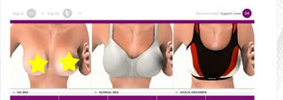 Illustration for article titled Choosing The Right Sports Bra Using Animated Nipples