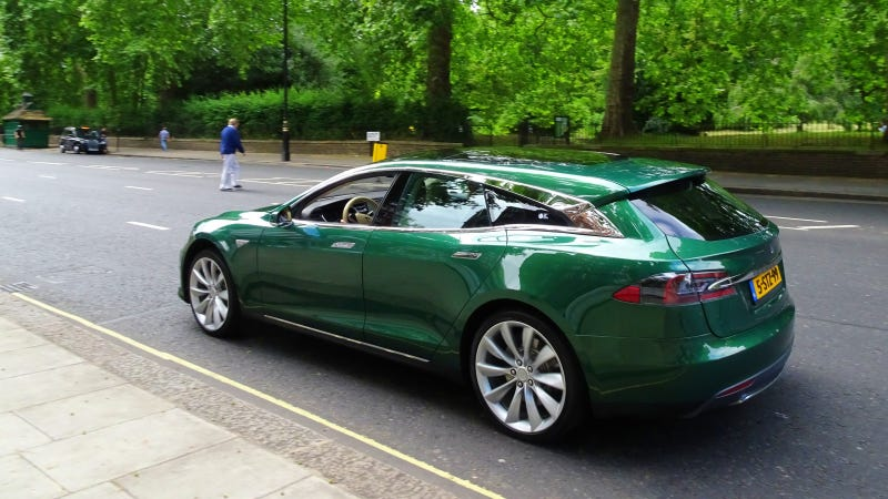 I Had A Look Around The Tesla Model S Shooting Brake And It S Pretty