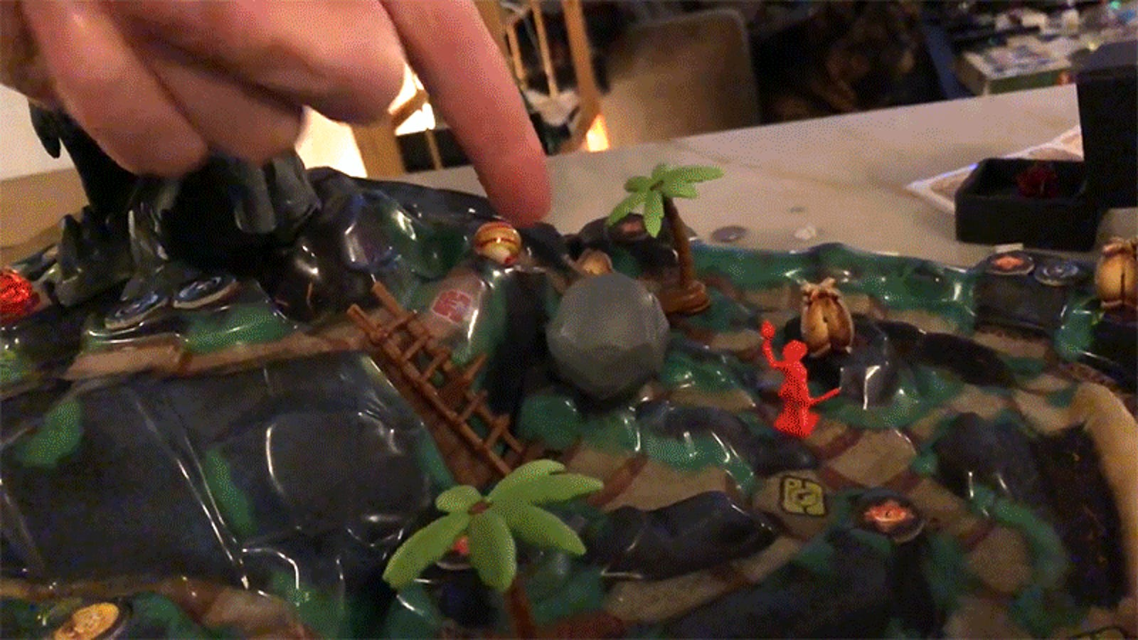 Someone Turned Their Apartment Into an Immersive Sound and Light Show for the Fireball Island Board Game