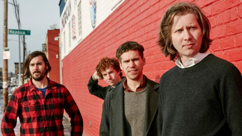 Yeaton, left, with the rest of Parquet Courts