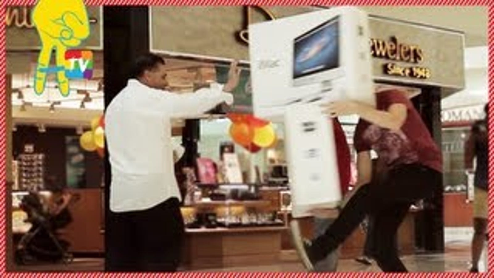 Watch a Prankster 'Accidentally' Break His iMac in Front of People
