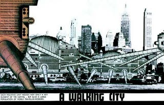 Illustration for article titled A City That Walks on Giant Actuators