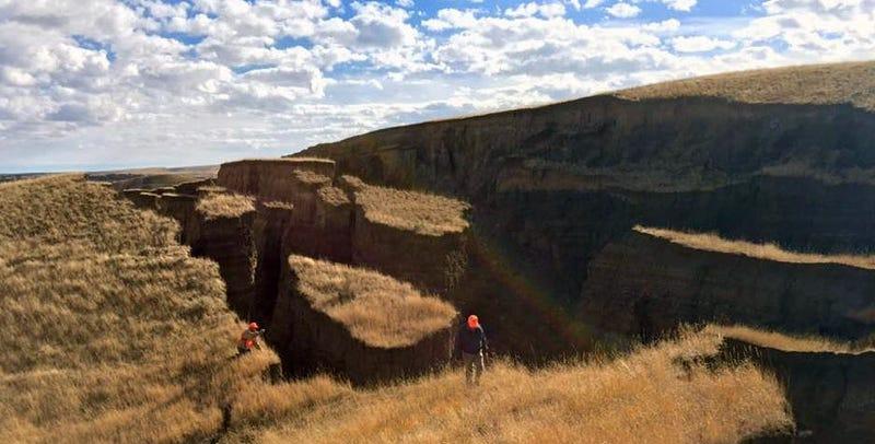 Una grieta de 685 metros de largo se abre en poco más de un mes en Wyoming