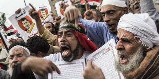 Morsi supporters in Egypt (Daniel Berehulak/Getty Images)
