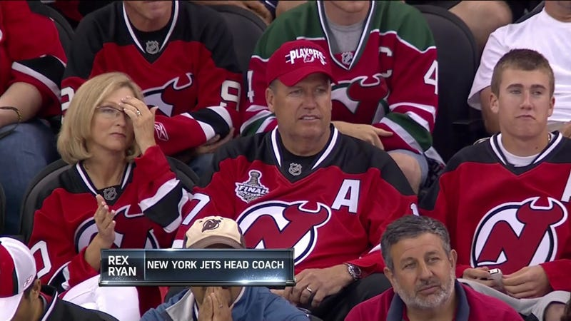 Illustration for article titled Rex Ryan: New Jersey Devils Fan