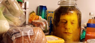 Illustration for article titled The best kitchen prank is putting a human head in a jar inside a fridge