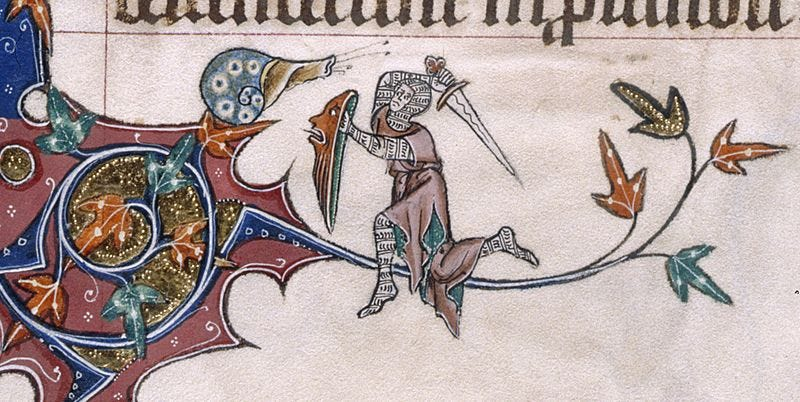 Illustration for article titled Why do knights fight snails in illuminated manuscripts?