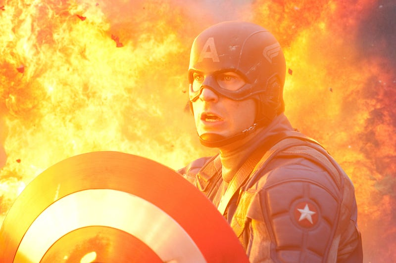 Illustration for article titled High-Res Captain America Stills: F*@% Yeah!