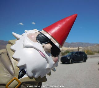 """Illustration for article titled Brenda Priddy's Subaru Rally Driver-Signed """"Spy Gnome"""" For Sale on eBay"""