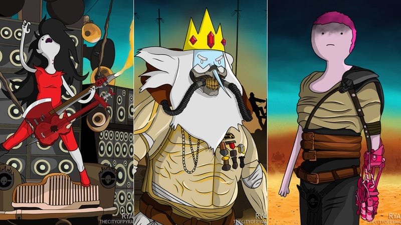 Illustration for article titled Fusionar Mad Max con Hora de Aventuras es una genialidad