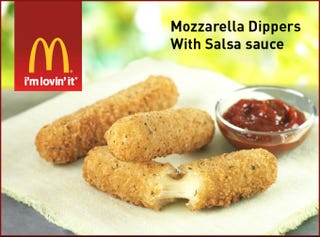 Illustration for article titled McDonald's is Testing Mozzarella Sticks Now