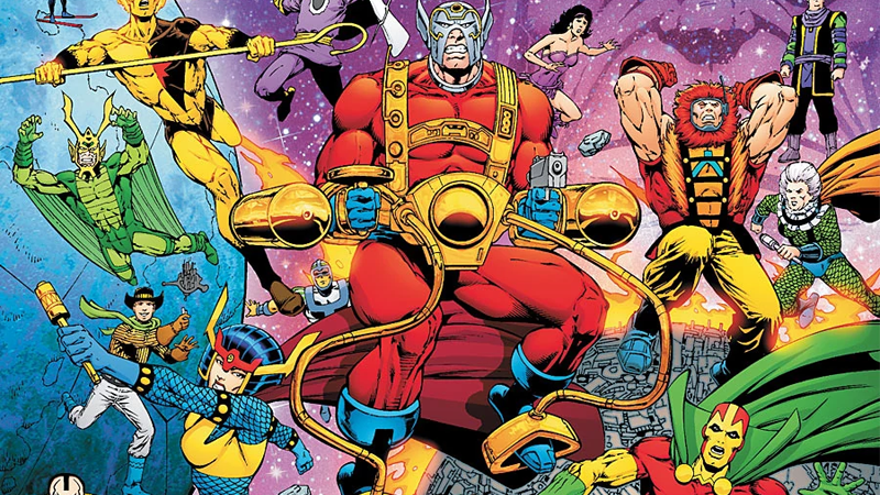 Image: DC Comics. Death of the New Gods #1 cover art by Jim Starlin, Matt Banning, and Jeromy Cox.