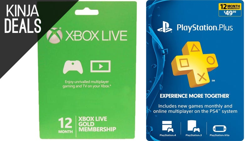 Illustration for article titled Save on PlayStation Plus and Xbox Live Memberships